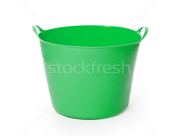 Stok fotoğraf: Yeşil · renk · plastik · sepet · yalıtılmış · beyaz