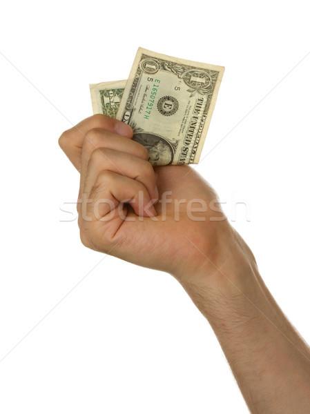 Zdjęcia stock: Człowiek · jeden · Dolar · ustawy · strony