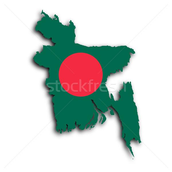 Foto stock: Mapa · Bangladesh · papel · de · parede · asiático · branco · gráfico