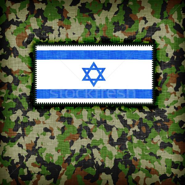 Uniforme Israele bandiera texture abstract Foto d'archivio © michaklootwijk