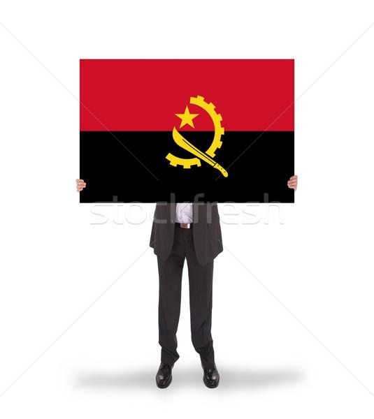 бизнесмен большой карт флаг Ангола Сток-фото © michaklootwijk
