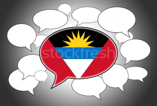 Stockfoto: Taal · achtergrond · ruimte · vlag · praten