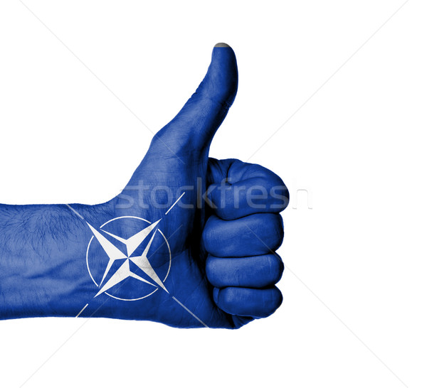 Closeup of male hand showing thumbs up sign Stock photo © michaklootwijk