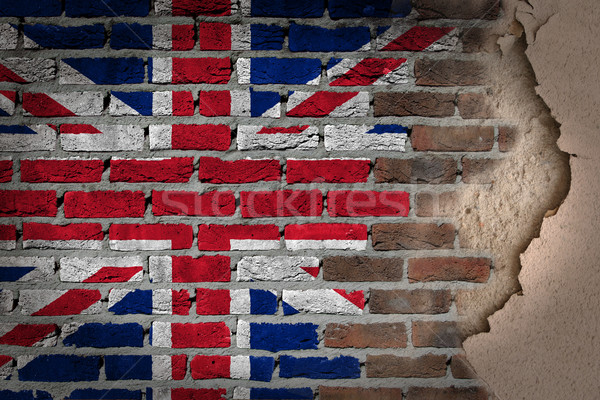 Oscuro pared de ladrillo yeso Reino Unido textura bandera Foto stock © michaklootwijk