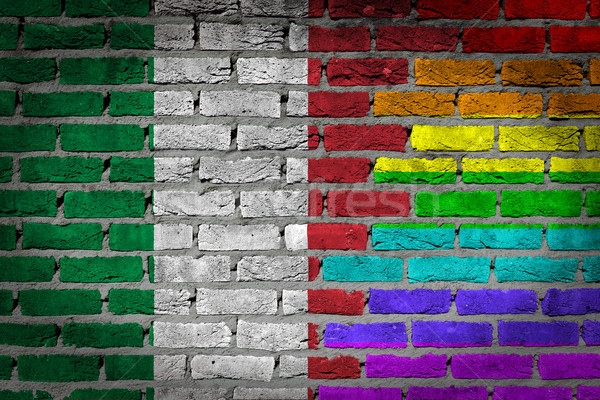 Dark brick wall - LGBT rights - Italy Stock photo © michaklootwijk
