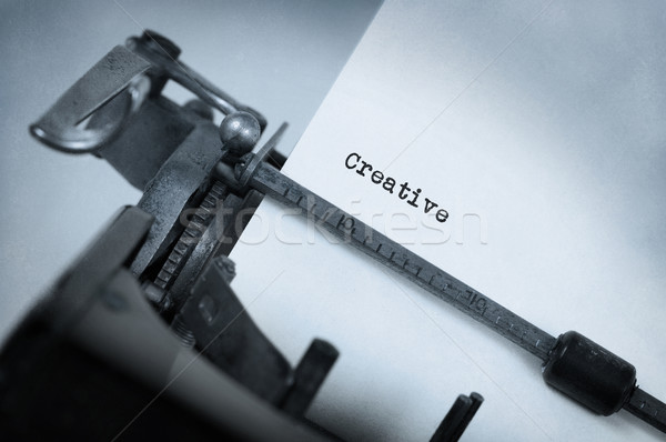 Foto stock: Vintage · velho · máquina · de · escrever · criador · fundo