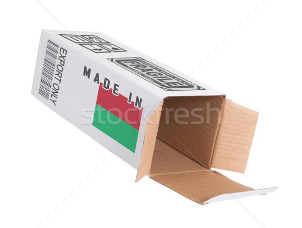 Exporter produit Madagascar papier boîte Photo stock © michaklootwijk