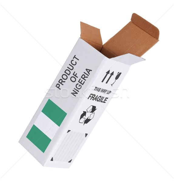 エクスポート 製品 ナイジェリア 紙 ボックス ストックフォト © michaklootwijk