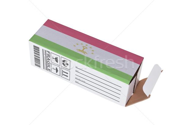 экспорт продукт Таджикистан бумаги окна Сток-фото © michaklootwijk