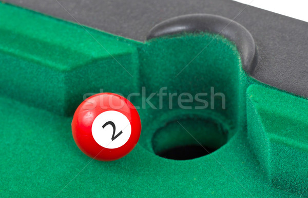 Red snooker ball - number 2 Stock photo © michaklootwijk