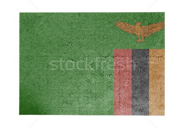Büyük 1000 parçalar Zambiya bayrak Stok fotoğraf © michaklootwijk