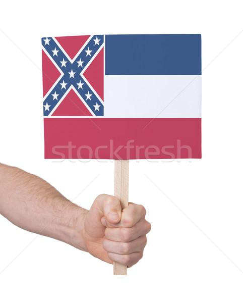 El küçük kart bayrak Mississipi Stok fotoğraf © michaklootwijk