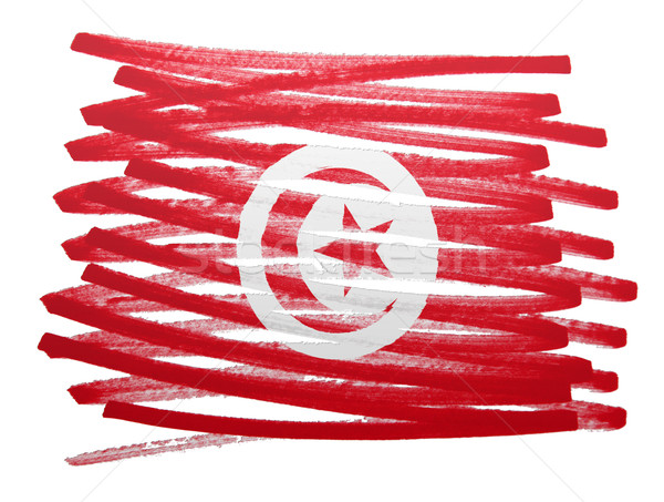 Flag illustration - Tunisia Stock photo © michaklootwijk