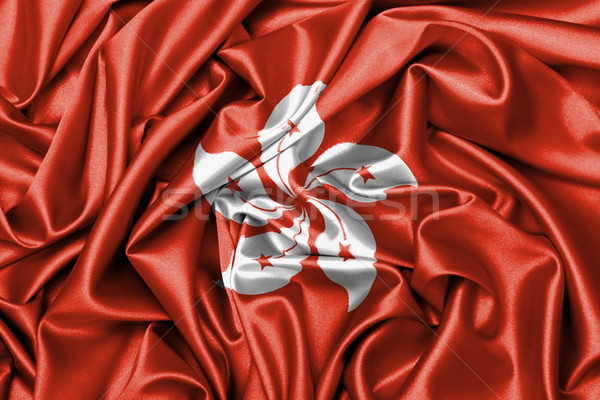 Raso bandera Hong Kong grande textura Foto stock © michaklootwijk