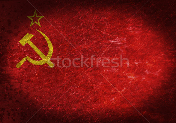 Oude roestige metaal teken vlag textuur Stockfoto © michaklootwijk
