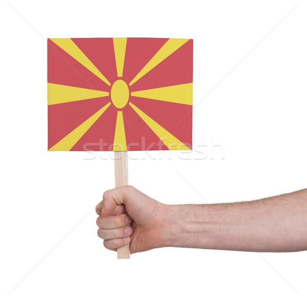 Mano pequeño tarjeta bandera Macedonia Foto stock © michaklootwijk