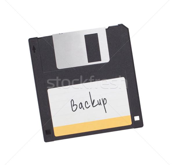 Сток-фото: диск · прошлое · изолированный · белый · черный · информации