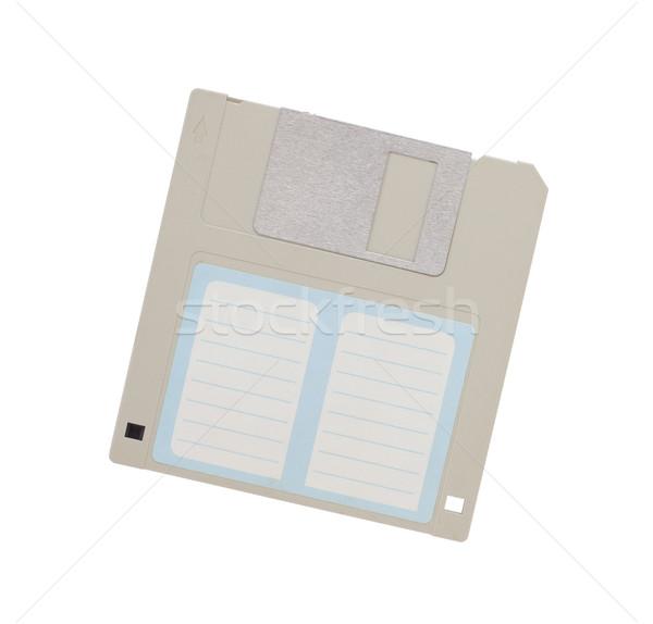 Сток-фото: диск · прошлое · изолированный · белый · пусто · Label