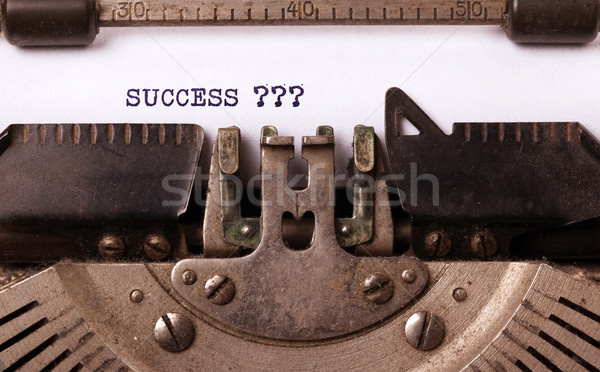 Vintage typewriter - Success Stock photo © michaklootwijk