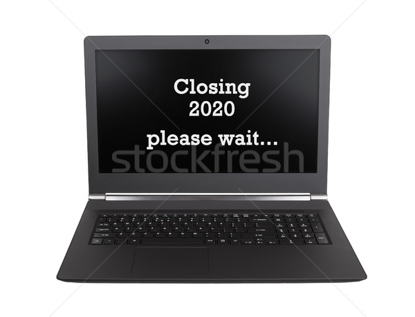 Laptop isolated - New Year - 2020 - 2021 Stock photo © michaklootwijk