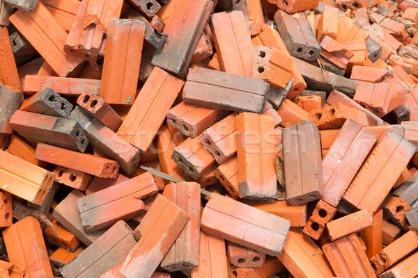 Grupo tijolos praça materiais de construção Ásia Vietnã Foto stock © michaklootwijk