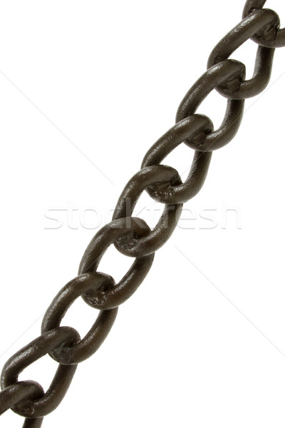Stock photo: Black chain isolated