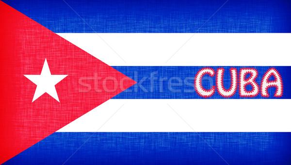 флаг Куба письма изолированный фон путешествия Сток-фото © michaklootwijk
