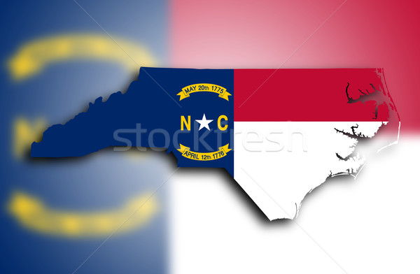 Map of North Carolina Stock photo © michaklootwijk