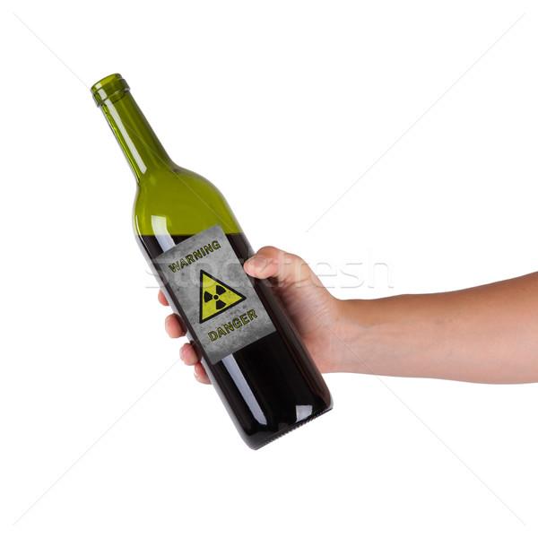 Mano botella alerta radioactivo vino Foto stock © michaklootwijk