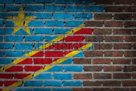 暗い レンガの壁 アルメニア テクスチャ フラグ ストックフォト © michaklootwijk