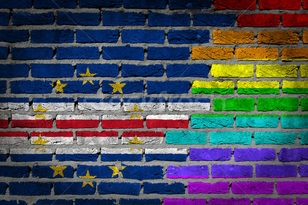 Dark brick wall - LGBT rights - Cape Verde Stock photo © michaklootwijk