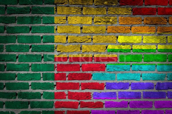 Dark brick wall - LGBT rights - Benin Stock photo © michaklootwijk