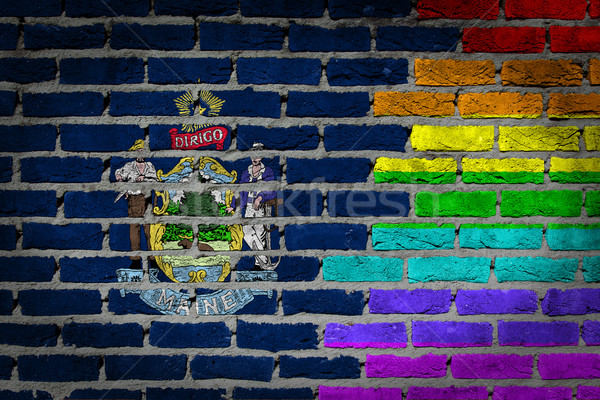 Dark brick wall - LGBT rights - Maine Stock photo © michaklootwijk