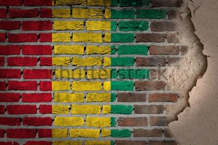 暗い レンガの壁 セネガル テクスチャ フラグ ストックフォト © michaklootwijk