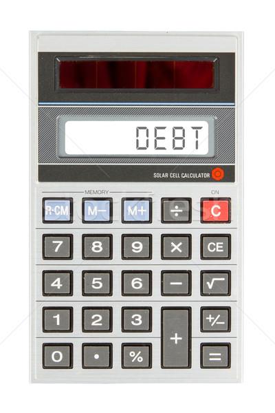 Vieux simulateur débit texte écran Photo stock © michaklootwijk