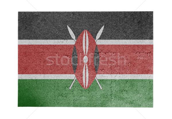 ジグソーパズル 1000年 ピース ケニア フラグ ストックフォト © michaklootwijk