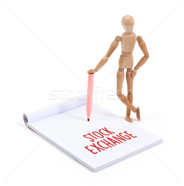 Maniquí escrito bolsa álbum de recortes negocios Foto stock © michaklootwijk