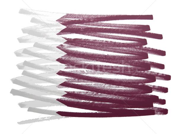 Bandeira ilustração Catar caneta negócio pintar Foto stock © michaklootwijk