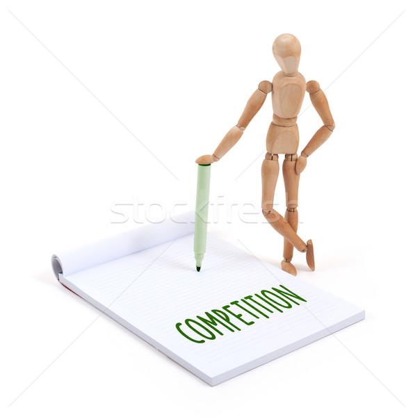 Manequim escrita competição recados papel Foto stock © michaklootwijk