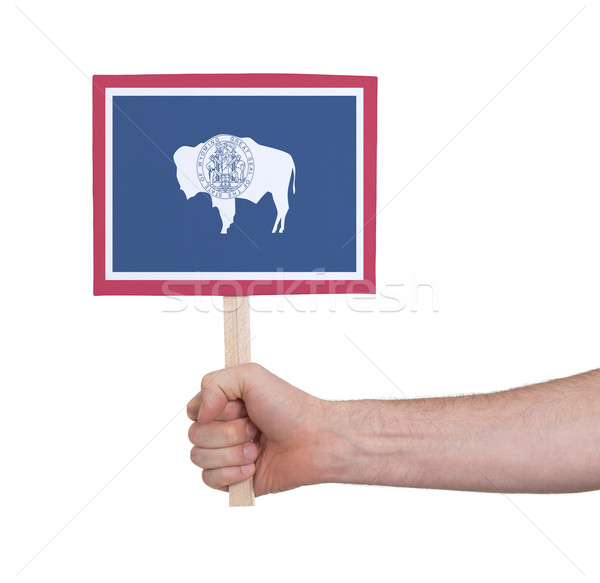 Hand klein kaart vlag Wyoming Stockfoto © michaklootwijk