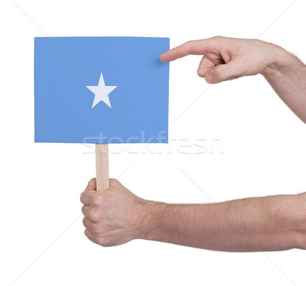 Strony mały karty banderą Somali Zdjęcia stock © michaklootwijk