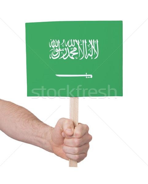 手 小 カード フラグ サウジアラビア ストックフォト © michaklootwijk
