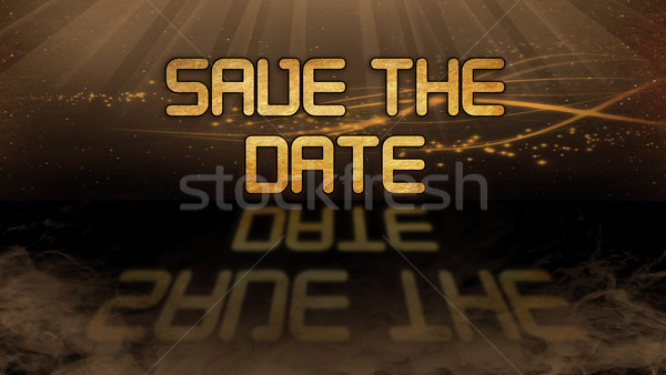 Gold quote - Save the date Stock photo © michaklootwijk