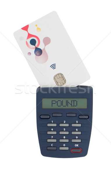 Card reader for reading a bank card Stock photo © michaklootwijk