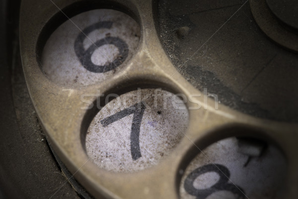 Close up of Vintage phone dial - 7 Stock photo © michaklootwijk