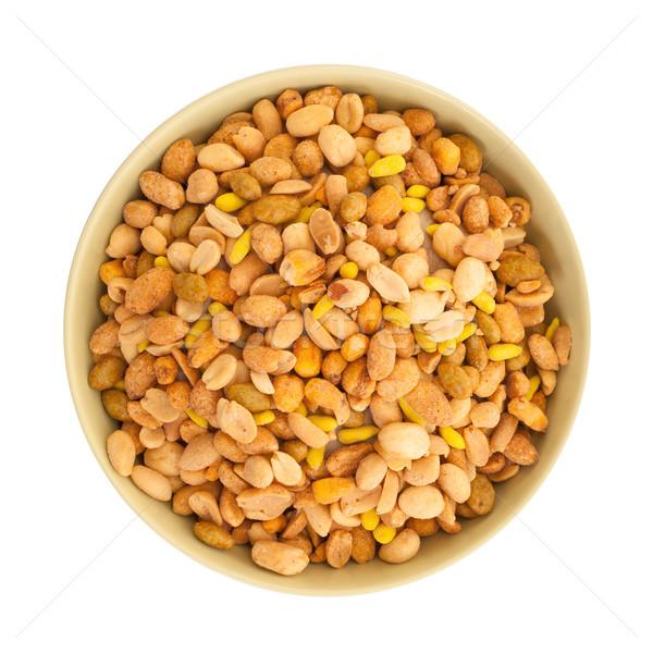 Fraîches mixte salé noix bol arachide Photo stock © michaklootwijk