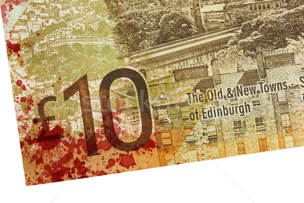 Scottish Banknote, 10 pounds, blood Stock photo © michaklootwijk