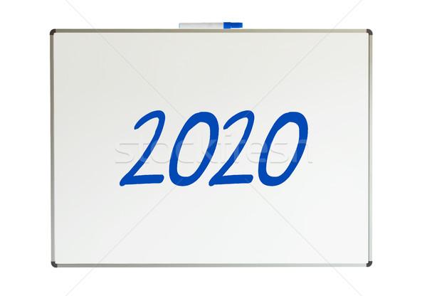 2020, message on whiteboard Stock photo © michaklootwijk