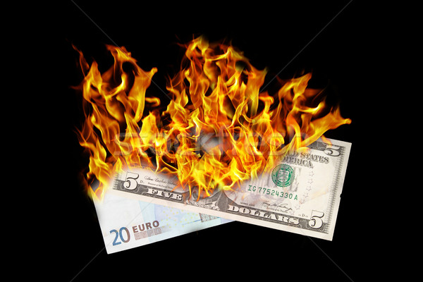 Burning money Stock photo © michaklootwijk