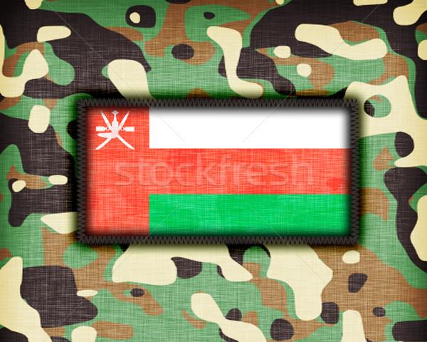 üniforma Umman bayrak doku soyut Stok fotoğraf © michaklootwijk